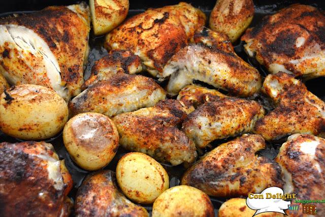 חלקי עוף בתנור chicken parts in the oven