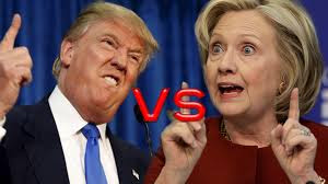 Photo of trump and Clinton