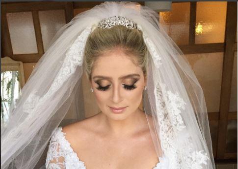 Thaíssa Naves maquiagem de noiva
