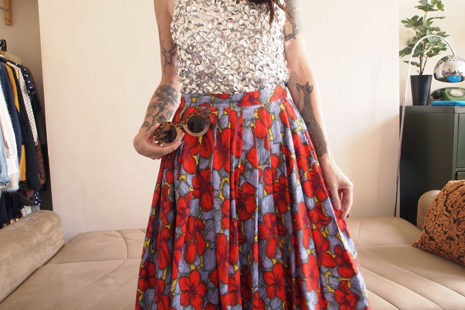Accept. H m floral skirt are mistaken