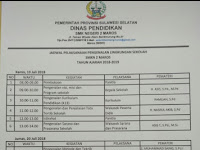 Jadwal Pelaksanaan Pengenalan Lingkungan Sekolah SMKN 2 MAROS TA. 2018/2019 Mulai Tgl 19 Juli 2018  s/d 21 Juli 2018