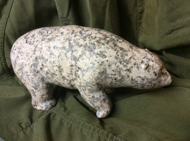 "Polar Bear: white granite   8 1/2"" x 4 1/2"" Frank Julien"