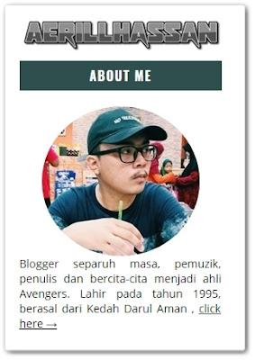 Sahabat blogger pilihan Starlavenderluna : Aerill Hassan