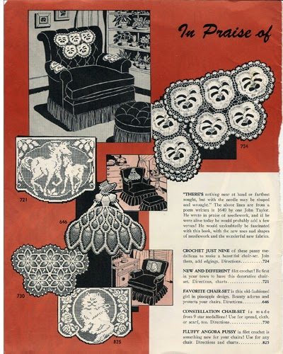 Crocheted Chair sets from Laura Wheeler Design Catalog