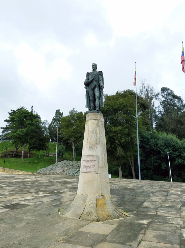 statue to General Santander in Puente de Boyaca
