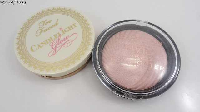 Makeup Revolution Vivid Baked Highlighter & Too Faced Candlelight Glow