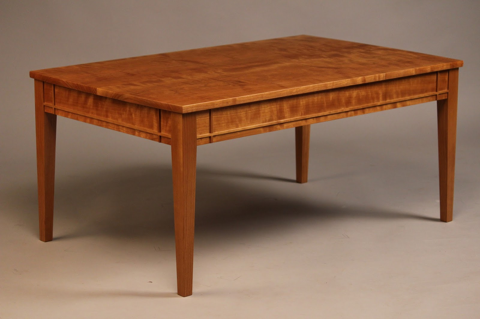 Doucette and wolfe fine furniture makers coffee table curly cherry table geotapseo Images