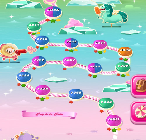 Candy Crush Saga level 5331-5345