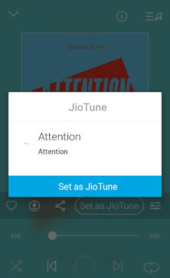 Activate jiotune via jio music app