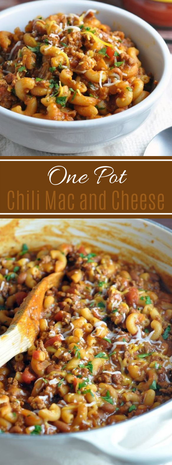 One Pot Chili Mac and Cheese #comfortfood #dinner