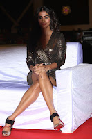 Pooja Hegde looks glamarous in deep neck sleevless short tight golden gown at Duvvada Jagannadham thank you meet function 075.JPG