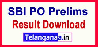 SBI PO Prelims Result Download Marks List declared