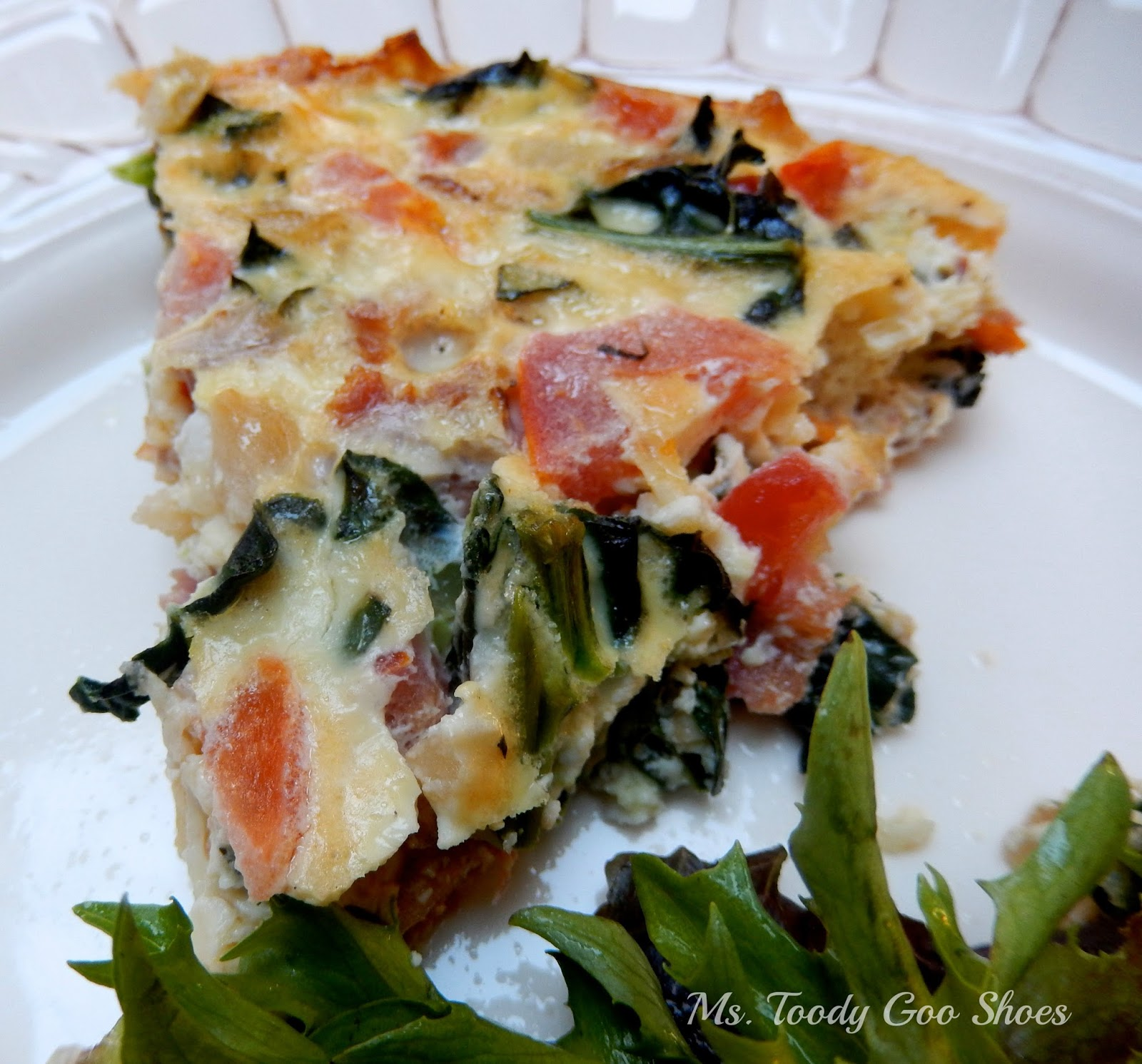 Tomato, Basil and Kale Frittata --- Ms. Toody Goo Shoes