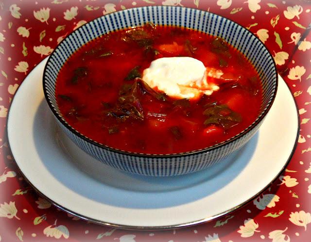 Russian vegetarian soup, borscht