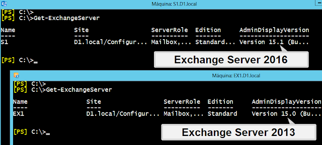Versiones de Exchange Server: 2013 y 2016