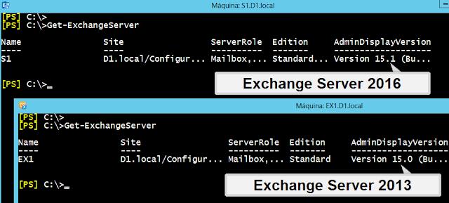 Versiones de Exchange Server: 2013 y 2016