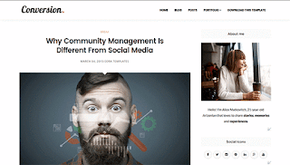 Conversion Blogger Template