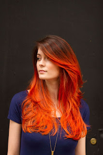 red and orange ombre