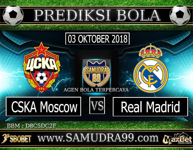 PREDIKSI TEBAK SKOR JITU CSKA MOSCOW VS REAL MADRID 03 OKTOBER 2018