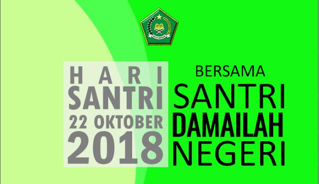 Draft Desain Kegiatan Hari Santri Nasional 2018