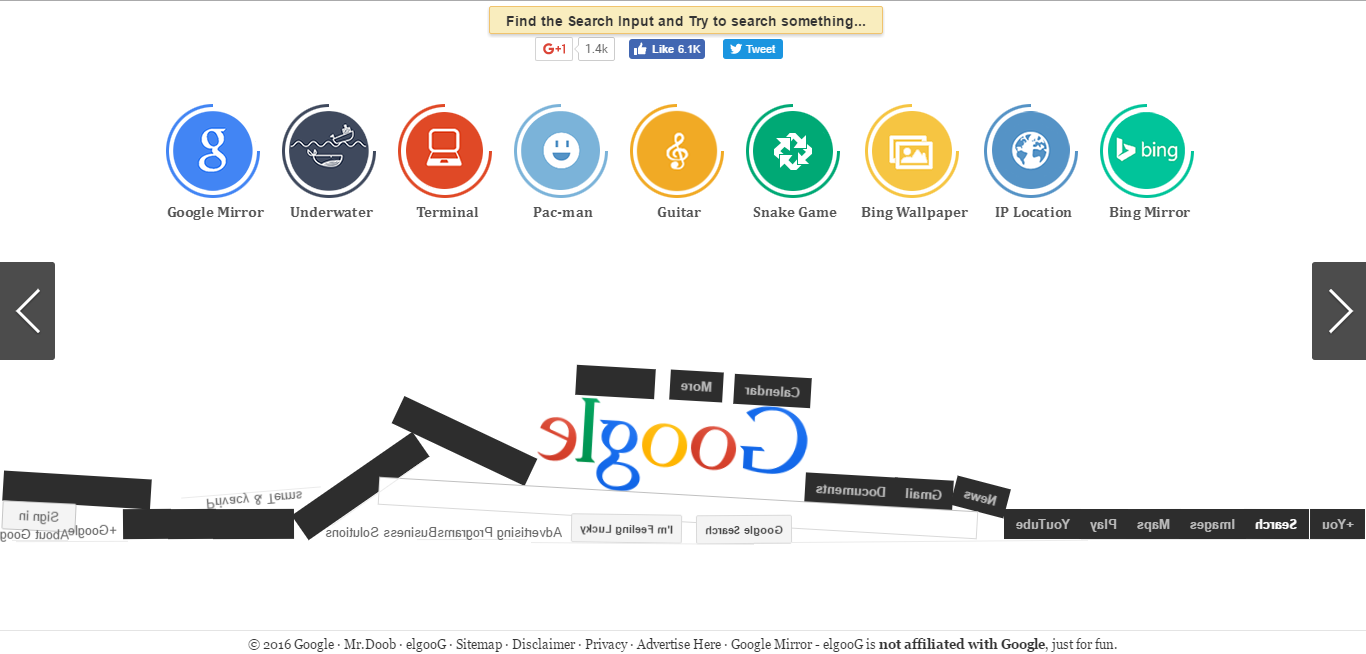 Play with google on elgoog