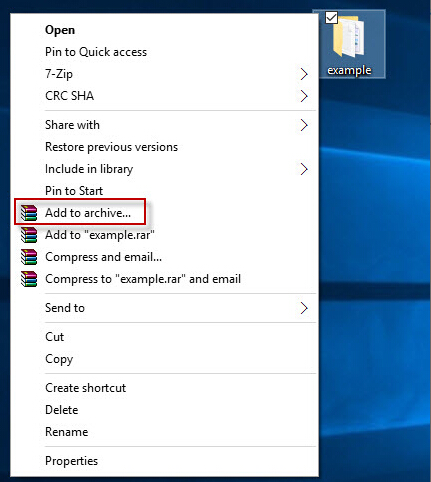 how to make password protected rar file