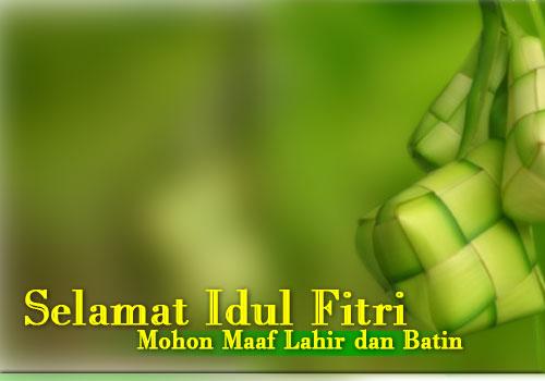 Kartu Lebaran 2012  Ucapan Selamat Idul Fitri 1433 H