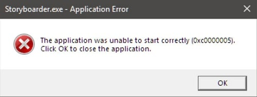 application was unable to start correctly 0xc00005
