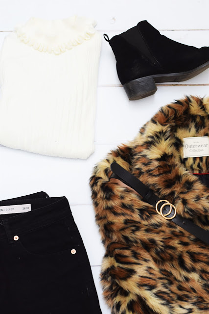 fashion, ootd, leopard print, jeans, poloneck, cream, asos, george, asda, primar, winter fashion