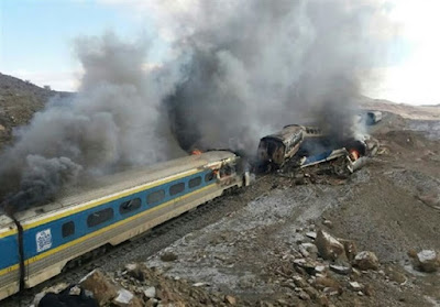Bus collides with train, one killed