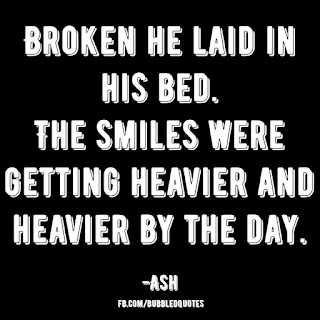 Broken life image Quote