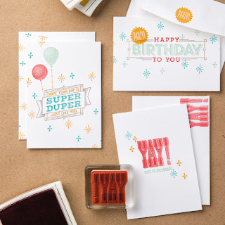 Stampin' Up! Clean & Simple Super Duper Birthday Cards
