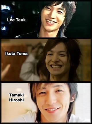 Leeteuk  and Toma Ikuta and Tamaki Hiroshi