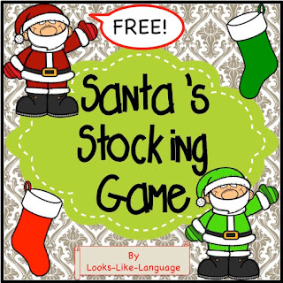 Help Santa find the right color stockings in this freebie from Looks Like Language!
