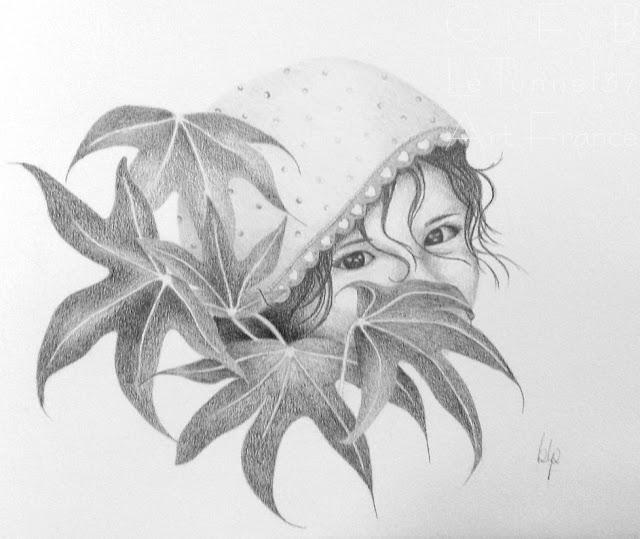 Cours de dessin Ateliers LT37 - Barbara LP - Cache cache - dessin crayon graphite et pierre noire - st cyr sur loire chambray les tours montlouis sur loire amboise loches