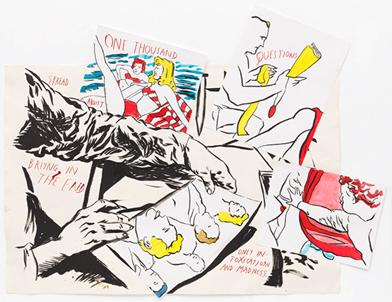 "drawing Raymond Pettibon Untitled (""Spread one thousand..."", 2018"