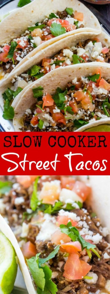 The Best Slow Cooker Street Tacos
