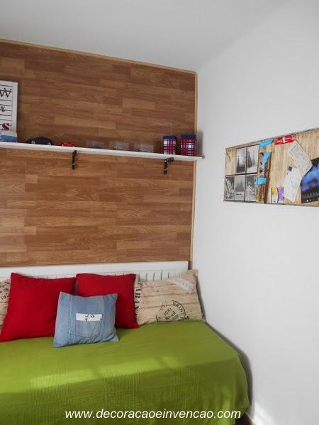 Como colocar piso laminado na parede - DIY