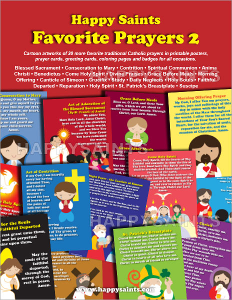 photo about Printable Catholic Prayer Cards known as Satisfied Saints: Pleased Saints Favored Prayers 2