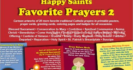 image regarding Come Holy Spirit Prayer Printable called Delighted Saints: Joyful Saints Favourite Prayers 2