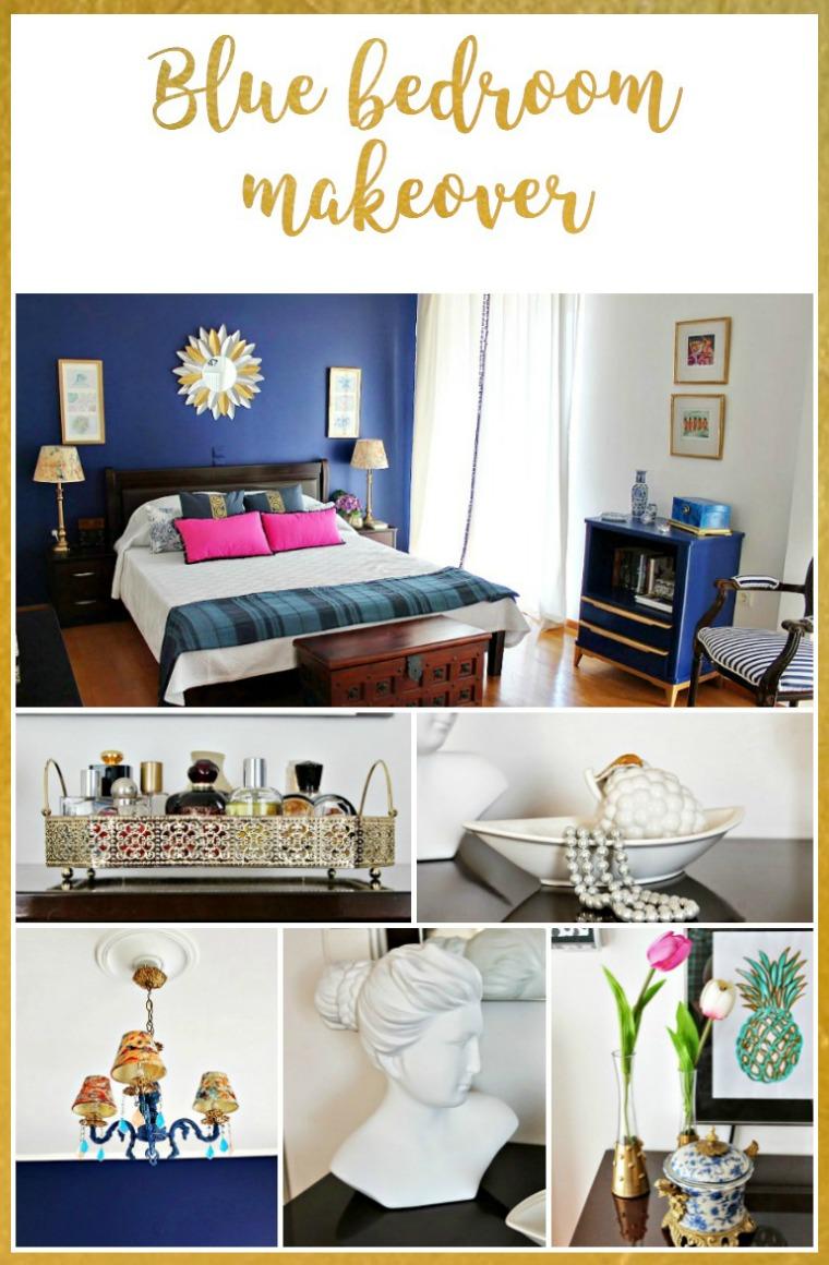 My blue bedroom makeover