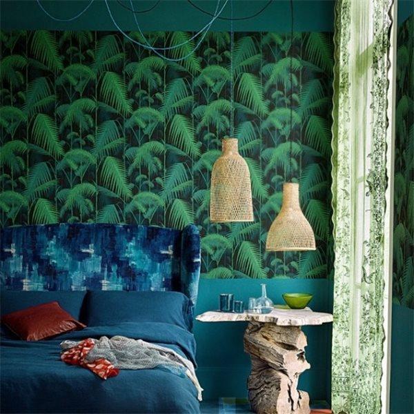 Atelier rue verte le blog collectif project inside couleurs et ambiances - Papier peint jungle tropicale ...