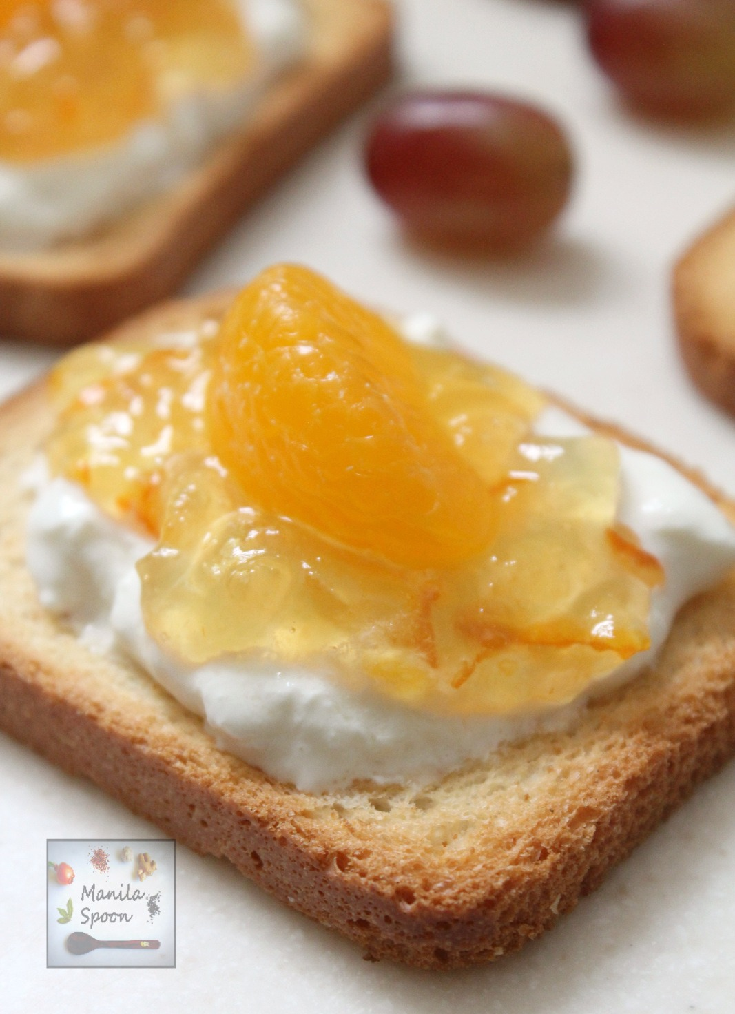 Just 3 ingredients and can be customized to your taste, these easy, quick and yummy Jam and Burrata Toasts are the perfect appetizers for Thanksgiving, Christmas, New Year or any holiday! | manilaspoon.com