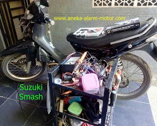Cara pasang alarm motor Suzuki Smash