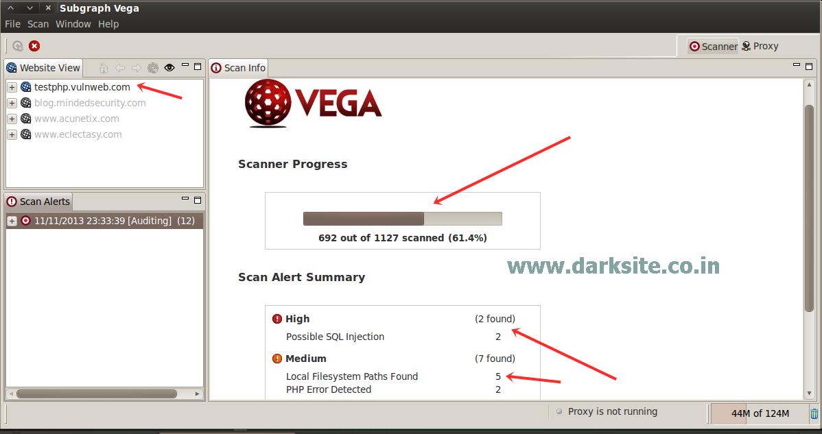 Scanning For Web Vulnerability Using Vega Scanner On