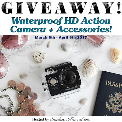 Enter the Hamswan Waterproof HD Action Camera Giveaway. Ends 4/6