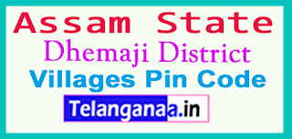 Dhemaji District Pin Codes in Assam  State