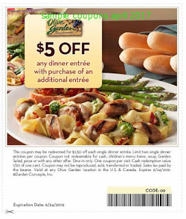 Olive Garden coupons april