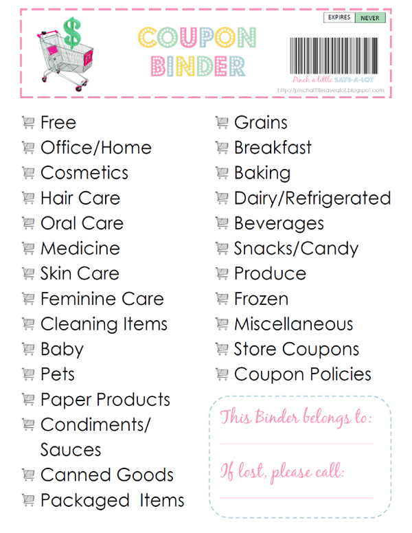 Organizing by Category, Date or Alphabetically. You will want to decide on which method to use when setting up your binder. The Pros and Cons: Using the category method is good for people who do not mind spending a little more time in organizing coupons and less time finding them at the grocery store.