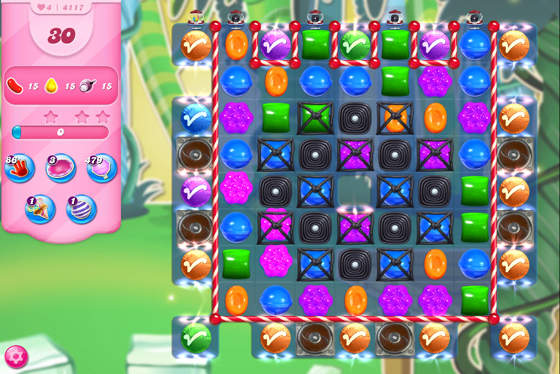Candy Crush Saga level 4117